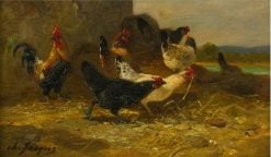 Hens and Roosters | Charles-Emile Jacque | Oil Painting