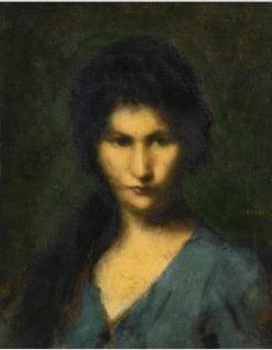 Portrait of a Young Woman | Jean-Jacques Henner | Oil Painting