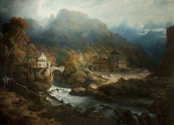 The Mountains of Vietri | Philip Reinagle | Oil Painting