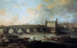 Wakefield Bridge and Chantry Chapel | Philip Reinagle | Oil Painting