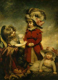 Three Children Dressing Up | Philip Reinagle | Oil Painting