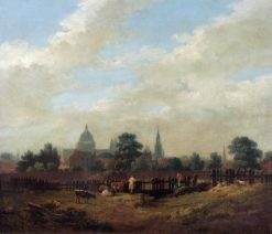 A View of London with St Pauls | Ramsay Richard Reinagle | Oil Painting