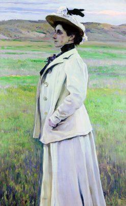 Portrait of N.G. Yashvil | Mikhail Vasilevich Nesterov | Oil Painting