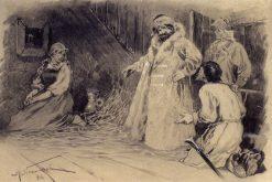 Pugachev Releasing Maria Ivanovna | Mikhail Vasilevich Nesterov | Oil Painting