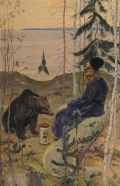 The Hermit and the Bear | Mikhail Vasilevich Nesterov | Oil Painting