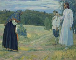 The Pilgrim | Mikhail Vasilevich Nesterov | Oil Painting