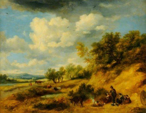 Gypsy Encampment   Ramsay Richard Reinagle   Oil Painting
