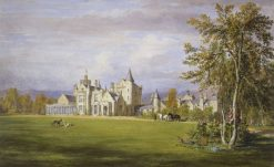Old Balmoral Castle -  garden front | James Giles | Oil Painting