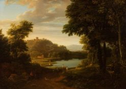 Italian Landscape with Lake | Ramsay Richard Reinagle | Oil Painting