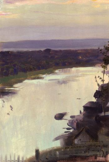 The Belaya River | Mikhail Vasilevich Nesterov | Oil Painting
