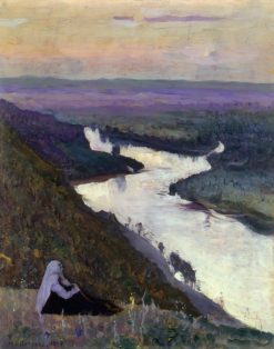 The Ufimka River | Mikhail Vasilevich Nesterov | Oil Painting
