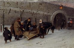 Collecting Money for the Burnt Temple in Moscow | Mikhail Vasilevich Nesterov | Oil Painting
