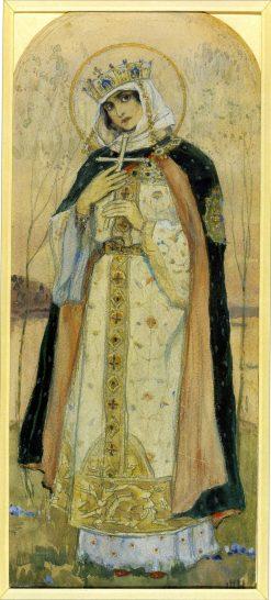 St. Princess Olga | Mikhail Vasilevich Nesterov | Oil Painting