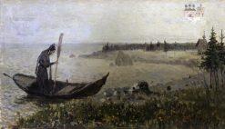 St. Zosima   Mikhail Vasilevich Nesterov   Oil Painting