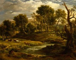 Landscape with Cattle | Ramsay Richard Reinagle | Oil Painting
