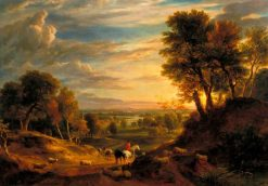 Landscape near Whitchurch | Ramsay Richard Reinagle | Oil Painting