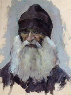 A Bearded Monk | Mikhail Vasilevich Nesterov | Oil Painting