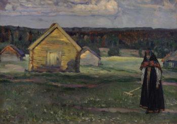 Haymaking   Mikhail Vasilevich Nesterov   Oil Painting