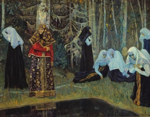 The Legend of the Invisible City of Kitezh | Mikhail Vasilevich Nesterov | Oil Painting