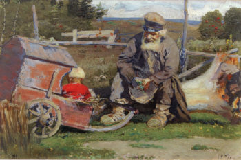 Old and Young | Mikhail Vasilevich Nesterov | Oil Painting