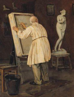 An Old Artist | Mikhail Vasilevich Nesterov | Oil Painting