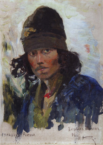 A Pilgrim | Mikhail Vasilevich Nesterov | Oil Painting