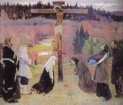 Holy Week   Mikhail Vasilevich Nesterov   Oil Painting