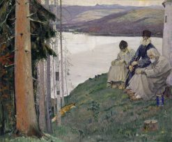 Three Old Men | Mikhail Vasilevich Nesterov | Oil Painting