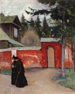 The Monastery Gate | Mikhail Vasilevich Nesterov | Oil Painting