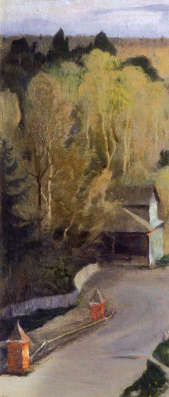 Near the Trinity Monastert   Mikhail Vasilevich Nesterov   Oil Painting