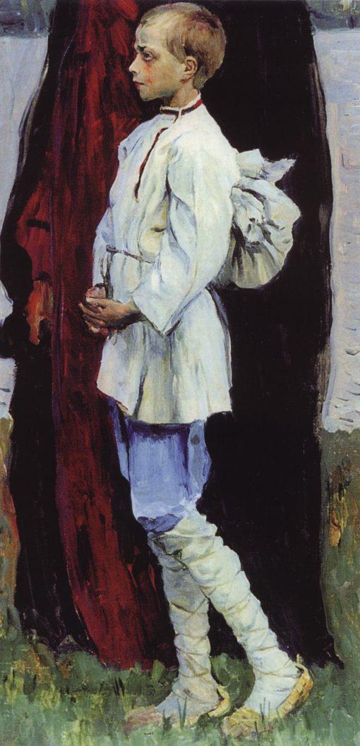 A Boy (study) | Mikhail Vasilevich Nesterov | Oil Painting