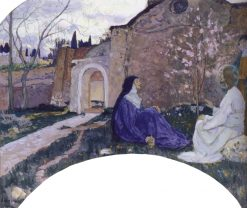 Christ in the House of Martha and Mary | Mikhail Vasilevich Nesterov | Oil Painting