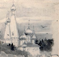 A Church | Mikhail Vasilevich Nesterov | Oil Painting