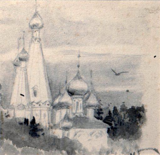 A Church   Mikhail Vasilevich Nesterov   Oil Painting