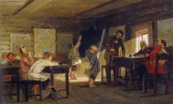 Exam at Village School | Mikhail Vasilevich Nesterov | Oil Painting