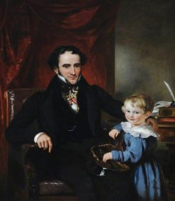 Sir George Crewe and His Son