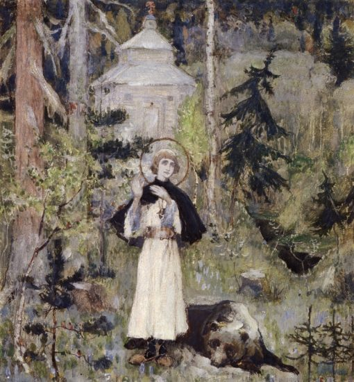 The Youth of St. Sergius   Mikhail Vasilevich Nesterov   Oil Painting