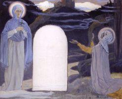 The Apparition of the Virgin to St. Nina | Mikhail Vasilevich Nesterov | Oil Painting