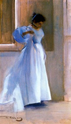 Interior with figure | Ramon Casas y Carbó | Oil Painting