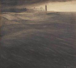 The Old Lighthouse at Dusk | Leon Spilliaert | Oil Painting