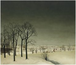 View of Tiegem in Winter | Valerius de Saedeleer | Oil Painting