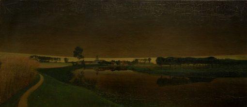 Onweer boven Sint-Martens-Latem | Valerius de Saedeleer | Oil Painting
