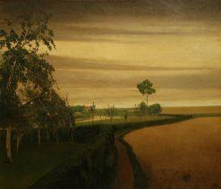 Einde van een sombere dag | Valerius de Saedeleer | Oil Painting