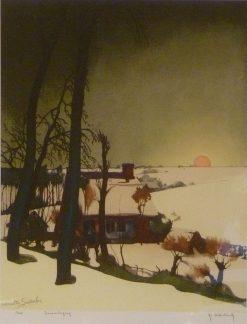 Zonsondergang | Valerius de Saedeleer | Oil Painting