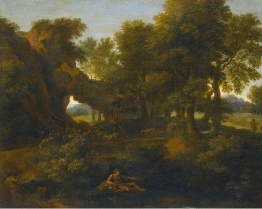 Classical Landscape   Gaspard Dughet   Oil Painting