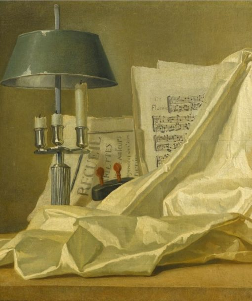 A still life with a bouillette lamp