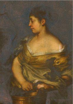 A Woman Holding a Bucket | Francesco Cairo | Oil Painting