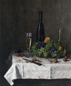 Still Life -  Basket of Grapes