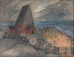 Kyrkan vid havet | Alvar Cawen | Oil Painting