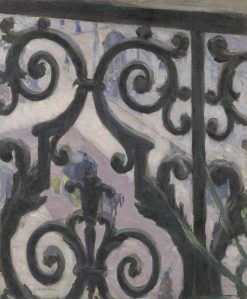 View Seen Through a Balcony   Gustave Caillebotte   Oil Painting